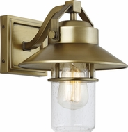 Feiss OL13900PDB Boynton Modern Painted Distressed Brass Exterior 9  Wall Lamp