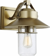 Feiss OL13902PDB Boynton Modern Painted Distressed Brass Exterior 12.5  Sconce Lighting