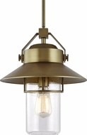 Feiss OL13912PDB Boynton Modern Painted Distressed Brass Exterior Hanging Pendant Light