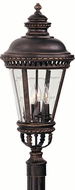 Feiss OL1908-GBZ Castle 4-light 28.25 inch Exterior Post Lamp in Grecian Bronze