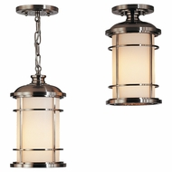 Feiss OL2209BS Lighthouse Nautical Brushed Steel Outdoor Drop Lighting / Flush Mount