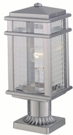 Feiss OL3407-BRAL Monterrey Coast 1-light 16 inch Outside Post Light in Brushed Aluminum