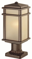 Feiss OL3407-CB Mission Lodge 1-light 16 inch Outdoor Post Lamp in Corinthian Bronze