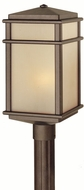 Feiss OL3408-CB Mission Lodge 1-light 19.25 inch Exterior Post Lamp in Corinthian Bronze