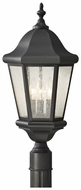 Feiss OL5907-BK Martinsville Outdoor Traditional Black Lantern Post Lamp
