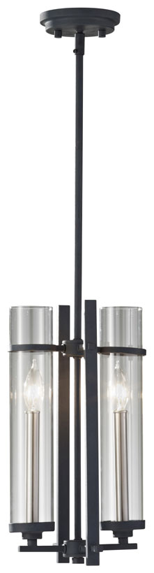 Feiss P1251 Af Bs Ethan Contemporary 2 Candle 17 Inch Tall