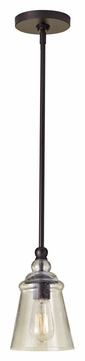 Feiss P1261ORB Urban Renewal 5 Inch Diameter Clear Seeded Glass Mini Pendant Light - Oil Rubbed Bronze
