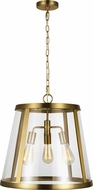 Feiss P1288BBS Harrow Contemporary Burnished Brass Drop Lighting