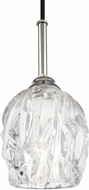 Feiss P1437PN Rubin Contemporary Polished Nickel Mini Ceiling Pendant Light