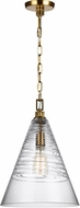 Feiss P1445BBS Elmore Contemporary Burnished Brass Mini Pendant Lighting Fixture