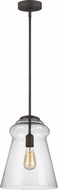 Feiss P1459DWI Loras Modern Dark Weathered Iron Mini Pendant Light Fixture