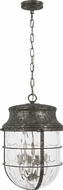 Feiss P1501DSL Parson Distressed Silver Leaf Drop Ceiling Lighting