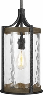 Feiss P1511DWK-SGM Angelo Modern Distressed Weathered Oak / Slate Grey Metal Mini Pendant Lamp