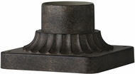 Feiss PIERMOUNT-PDB Painted Distressed Brass Exterior Post Mount