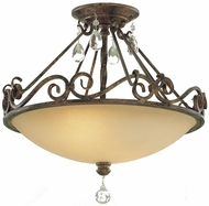 Feiss SF190-MBZ Chateau Traditional 2-light 16 inch Ceiling Light in Mocha Bronze