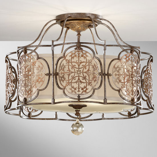 Feiss Sf285brbobz Marcella Traditional Semi Flush Ceiling Light Loading Zoom