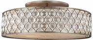 Feiss SF329BUS Lucia Burnished Silver Flush Ceiling Light Fixture