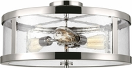 Feiss SF342PN Harrow Modern Polished Nickel 19.5  Ceiling Light Fixture