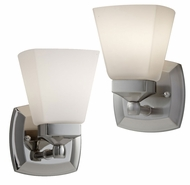 Feiss VS19901 Delaney Transitional 7 Inch Tall Wall Sconce Light With Opal Etched Glass