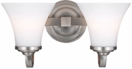 Feiss VS22502SN Hamlet Satin Nickel 2-Light Bathroom Lighting