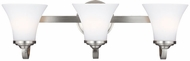 Feiss VS22503SN Hamlet Satin Nickel 3-Light Lighting For Bathroom