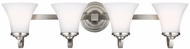 Feiss VS22504SN Hamlet Satin Nickel 4-Light Bath Lighting