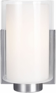 Feiss VS22601SN Bergin Satin Nickel Lighting Wall Sconce