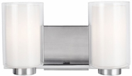 Feiss VS22602SN Bergin Satin Nickel 2-Light Bathroom Lighting Fixture