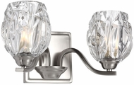 Feiss VS22702SN Kalli Satin Nickel Fluorescent 2-Light Bathroom Vanity Lighting