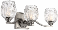 Feiss VS22703SN Kalli Satin Nickel Fluorescent 3-Light Bathroom Sconce