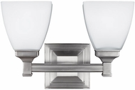 Feiss VS22802SN Putnam Satin Nickel 2-Light Vanity Light Fixture