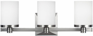 Feiss VS22903SN Randolf Satin Nickel 3-Light Bathroom Lighting Sconce