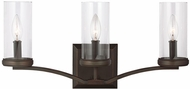 Feiss VS23203DAC-AC Jacksboro Dark Antique Copper / Antique Copper 3-Light Bath Lighting Sconce