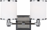 Feiss VS23302SN-CH Prospect Park Satin Nickel / Chrome 2-Light Bathroom Wall Light Fixture