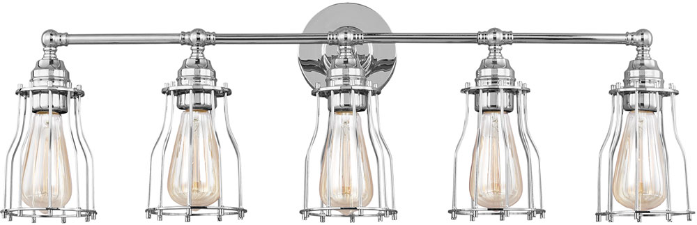 Feiss VS24005CH Calgary Modern Chrome 5 Light Bathroom Lighting Sconce.  Loading Zoom