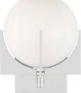Feiss VS2461PN Abbott Contemporary Polished Nickel Wall Light Sconce