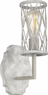 Feiss VS2481FWO-DWW Cosette Modern French Washed Oak / Distressed White Wood Wall Sconce