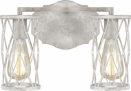 Feiss VS2482FWO-DWW Cosette Contemporary French Washed Oak / Distressed White Wood 2-Light Bath Wall Sconce