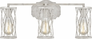 Feiss VS2483FWO-DWW Cosette Modern French Washed Oak / Distressed White Wood 3-Light Bathroom Light Sconce