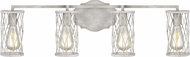 Feiss VS2484FWO-DWW Cosette Contemporary French Washed Oak / Distressed White Wood 4-Light Bathroom Lighting Sconce