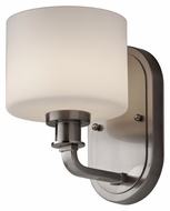 Feiss VS29001-BS Kincaid Transitional 8 Inch Tall Brushed Steel Wall Sconce Light Fixture