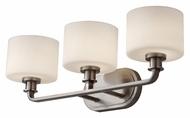 Feiss VS29003-BS Kincaid Brushed Steel 23 Inch Wide Transitional Vanity Light Fixture - 3 Lamps