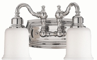 Feiss VS8002-PN Canterbury 2-light 8 inch Vanity Light in Polished Nickel