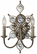 Feiss WB1579-BUS Leila Traditional Crystal Candle Wall Sconce Lighting Fixture - Silver
