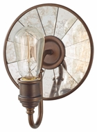 Feiss WB1701ASTB Urban Renewal Short 8 Inch Round Wall Sconce