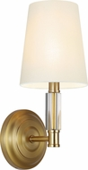 Feiss WB1717BBS Lismore Burnished Brass Wall Light Fixture