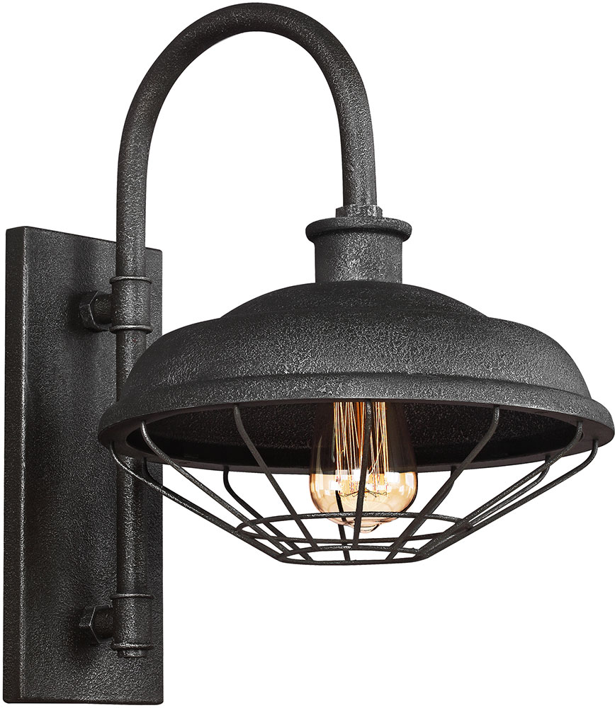Feiss Wb1828sgm Lennex Vintage Slated Grey Metal Indoor Outdoor Lighting Sconce Loading Zoom