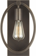 Feiss WB1847ANBZ Marlena Modern Antique Bronze Wall Light Sconce