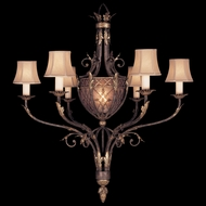 Fine Art 153140 Villa 1919 Traditional Rich Umber Finish Hanging Chandelier - 6 Lamps