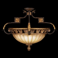 Fine Art 234645 Castile Semi Flush Mount Gold Leaf 27 Inch Diameter Ceiling Lighting